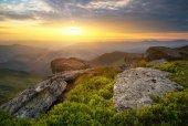Mountain hill during sundown — Foto de Stock