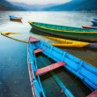Boats on lake during sunset. — Stock Photo #70185011
