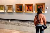 Chinese art gallery in Guangzhou — Stock Photo
