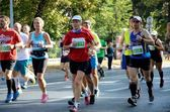 Wroclaw Marathon - runners — Stock Photo