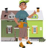 Renovate a house — Stock Vector