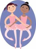 Little ballerinas — Stock Vector