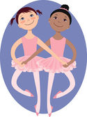 Little ballerinas — Stock Vector