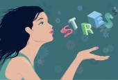 Reducing stress — Stock Vector