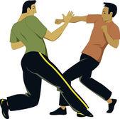 Självförsvar sparring — Stockvektor
