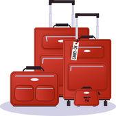 Luggage set — Stock Vector