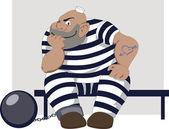 Cartoon prisoner — Stock Vector