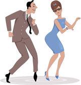 Dancing the Twist — Stock Vector