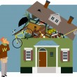 Packing a house — Stock Vector #66079375