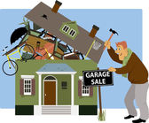 Time for a garage sale — Stock Vector