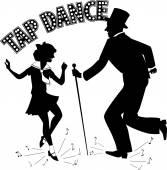 Tap Dance Teacher — Stock Vector