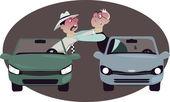 Road rage — Stock Vector