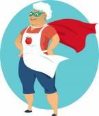 Super grandma — Stock Vector