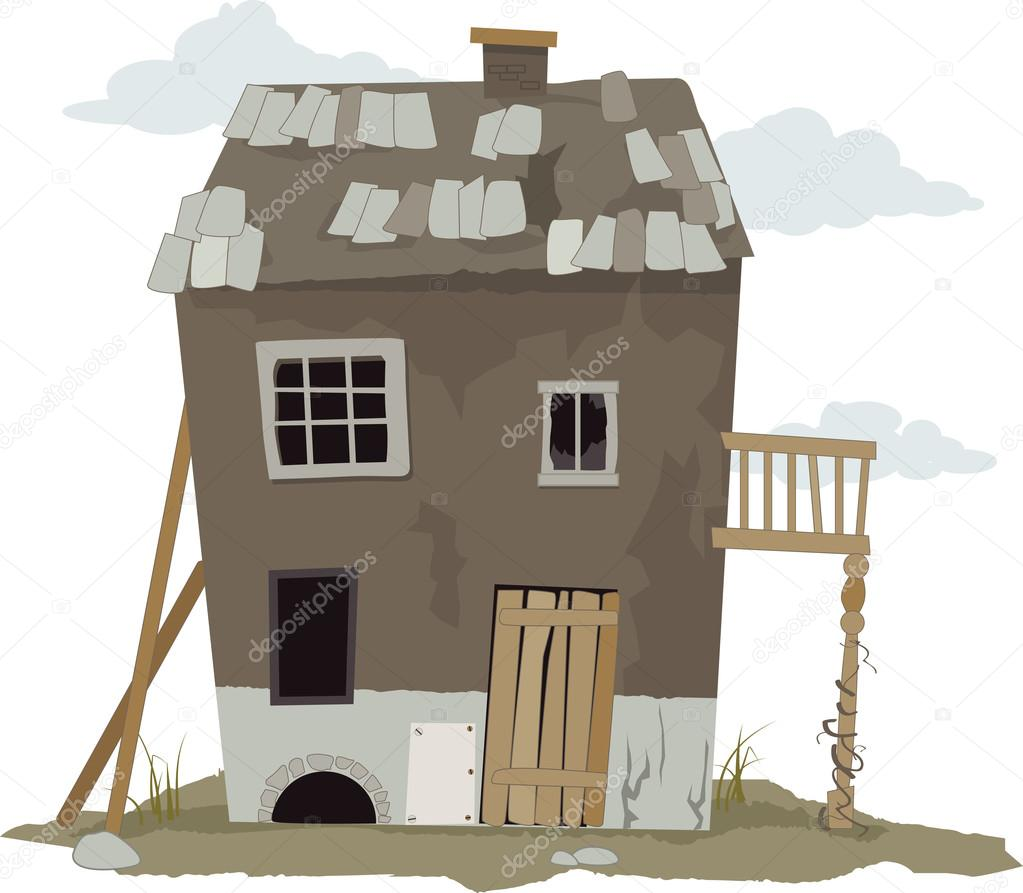 Stock Illustration Old Cartoon Cabin on small retro house plans