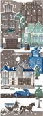 Winter cityscape — Stock Vector