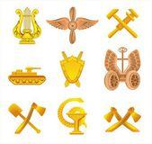 Set of military insign — Stok Vektör