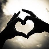 Amore forma mano — Foto Stock