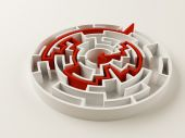 Solved Maze Puzzle — Stock Photo