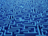 Solved Maze puzzl — Stock Photo
