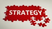 Strategy Puzzl — Stock Photo