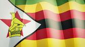 Zimbabwe Flag — Stock Photo