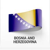 Bosnien och Hercegovina flaggikonen — Stockfoto