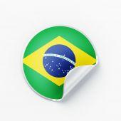 Brazil Flag Icon — Stock Photo