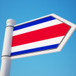 Costa Rica Flag Sign — Stock Photo #54698113