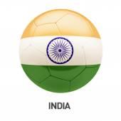 Icono de fútbol de bandera India — Foto de Stock