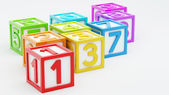 Box Number Toy — Stockfoto