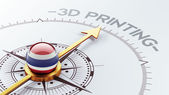 Thailand 3d Printing Concept — 图库照片