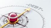 Denmark Debt Concept — Stockfoto