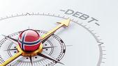 Norway Debt Concept — Stockfoto