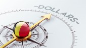 Belgium Dollars Concept — Stok fotoğraf