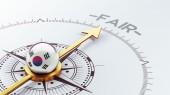 South Korea Compass Concept — Stock Photo