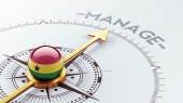 Ghana Manage Concept — Stock Photo
