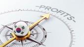 South Korea Compass Concept — Stockfoto