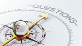 Algeria Questions Concept — Foto Stock
