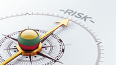 Lithuania Risk Concept — Foto de Stock