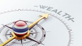 Conceito de riqueza de Tailândia — Fotografia Stock
