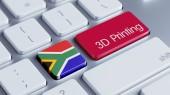 Νότια Αφρική 3d εκτύπωσης έννοια — Stockfoto