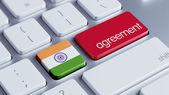 India Agreement Concept — Zdjęcie stockowe