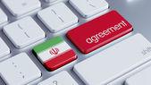 Iran Agreement Concept — Zdjęcie stockowe
