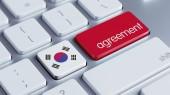 South Korea Keyboard Concept — Zdjęcie stockowe
