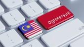 Malaysia Agreement Concept — Zdjęcie stockowe