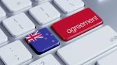 New Zealand Agreement Concept — Zdjęcie stockowe