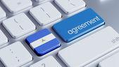 Nicaragua Agreement Concept — Stockfoto