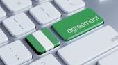 Nigeria Agreement Concept — Zdjęcie stockowe