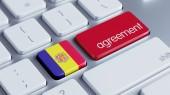 Andorra Agreement Concept — Stockfoto