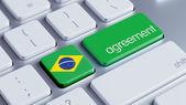 Brazil Agreement Concept — Zdjęcie stockowe